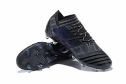 Wholesale Soccer Indoor Shoes Messi - Original Low Soccer Cleats Mens Cheap FG Soccer Shoes Nemeziz Messi 17 FG Football Boots TF IC Indoor Nemeziz Tango ACC 17.3 Boots