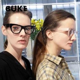 BUKE Senhoras Armações de Óculos de Armação de Óculos de Sol Das Mulheres  Designer de Marca Rivet design Óptico Moda Transparente Eyewear Computador  Óculos ... 2e2fd7e5e5
