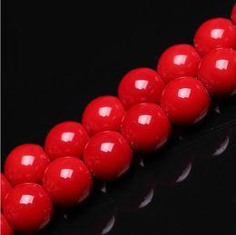 2019 coral rojo redondo de 8mm 8mm venta al por mayor de piedra natural granos de coral rojo granos flojos redondos 6 mm 8 mm 10 mm 12 mm para la fabricación de joyas collar de bricolaje pulsera rebajas coral rojo redondo de 8mm
