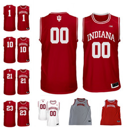 Wholesale Indiana Jersey - Indiana Hoosiers #1 Romeo Langford 21 Jerome Hunter 10 Robert Phinisee 23 Damezi Anderson Any Name Number College Basketball Jersey