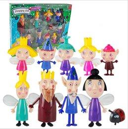 Маленькие фигурки онлайн-10 шт. / компл. Маленькое королевство Бен Холли фигурку 2-9 см ПВХ статуэтки Бен и Холли Маленькое королевство мини цифры игрушки дети подарок