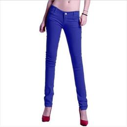 Wholesale Corduroy Jeans - 9 Candy Colors Slim Women Pencil Pants Elasticity Leisure Cotton Plus Size Wonen Clothing Full Length Jeans Pant Capris Trousers