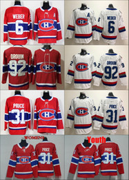 d13f781d5 2018 NEW Womens Montreal Canadiens 31 Carey Price 6 Shea Weber 92 Jonathan  Drouin Hockey Jerseys Ladies Stitched Girls Jersey