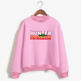 Wholesale Pink Animations - Frdun Tommy Hunter X Hunter Capless Sweatshirt Animation Japanese Comics Capless Sweatshirt Women Fashion Casual Clothes