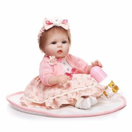 Wholesale High End Dolls - 42cm NPK Emualation Doll Soft Silica Gel Raw material Cute Baby High-end Individuality Gift Present Friends Folk Sweetheart