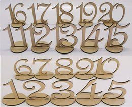 Wholesale vintage table numbers - Wooden Table Number 1-20 Wood Wedding Table Numbers with Holder Base for Wedding Party Home Decoration Vintage Birthday Event Banquet Annive