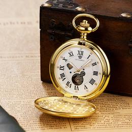 neue weiße gold taschenuhr Rabatt NEUE Luxus OUYAWEI Mechanische Taschenuhren Männer Voller Stahl Fall Taschenuhr Analog Gold Weißes Zifferblatt Steampunk Vintage Uhr