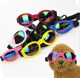 Защитные очки для собак онлайн-Летние солнцезащитные очки для домашних животных Защита для глаз Защитные очки для маленьких средних и больших аксессуаров для собак Мода для домашних животных