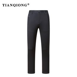 pants china Promo Codes - TIANQIONG Mens pants size 29-40 black male suit pants slim fit business trousers brand man Winter 2018 china imported clothes