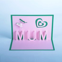 3D Greeting Card Mothers Day Thanksgiving Birthday Creative Paper Carving Three Dimensional Customize Thanks Blessing
