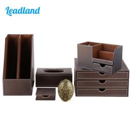 schreibwarenhalter Rabatt Office Desktop Organizer Set Schreibwaren Organizer Datei Halter Rechteck Tissue Case Stifthalter Aktenschrank T21