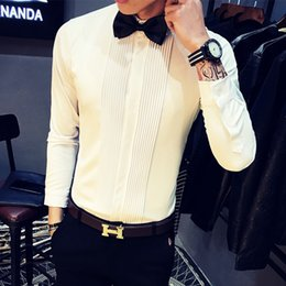 Wholesale Long Dresses Korean Winter - Quality Korean Slim Fit Shirt Men Autumn Winter Fashion Simple Casual Men's Shirts Long Sleeved Slim Fit Tuxedo Shirts 5XL-S Hot