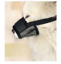 2019 collari di cane scioccante Pet Dog Regolabile Maschera Bark Dog Muzzle Anti Stop Bite Barking Chewing Mesh Mask Training Piccolo Grande Trasporto Libero wn588 100 PZ