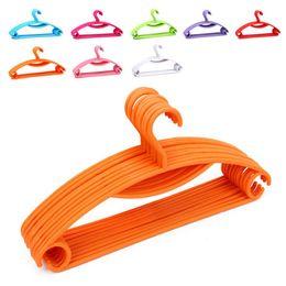 "Wholesale Clothes Drying Hangers - Rainbow Plastic Non-slip Casual Plastic Hanger   Dry Wet Clothes Hangers 40.5CM (15.95 "") Wide 8 Color Select"