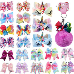 "Multi Group 8"" or 5"" JOJO Bow girl colorful Geometry print Bow Barrettes Girl Rainbow girl Hairbands Girls Hair Unicorn party hair bows"