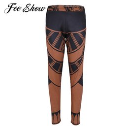 9033503f9d83b New Fashion Unisex Adult Tattoo Print Long Pants Trousers Halloween Party  Cosplay Costume Full Length Workout Gyms Legging Pants