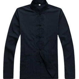 Wholesale Traditional Kung Fu Clothing - New Arrival Chinese Traditional Men's Cotton Mandarin Collar Linen Tang Suit Clothing Kung Fu Jacket Coat Plus Size S - 3XL