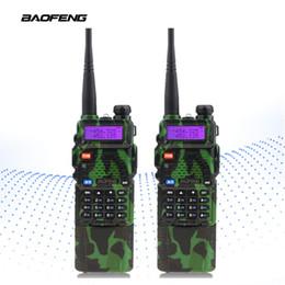 Radio de camouflage en Ligne-2pcs / Lot BaoFeng UV-5R 3800 Camouflage Portable Talkie-Walkie Talkie CB Radio Émetteur-Récepteur Interphone Double-bande LED Serrure à clé