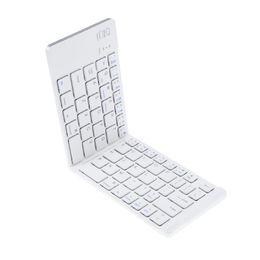 Wholesale Bluetooth Folding Keyboard For Tablet - ALLOYSEED Pocket Folding Keyboard Metal Bluetooth Keyboard Aluminium Alloy Wireless for Tablet for iPhone iPad Samsung