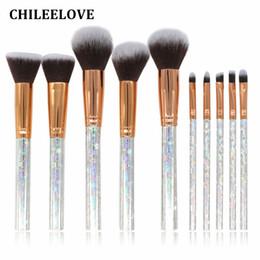 CHILEELOVE 10 Pcs Mármore Listra Pro Kit Pincéis de Maquiagem Para Blush Em Massa Pó Sombra de Olho Estrela Destaque / Escova De Cabelo Padrão de