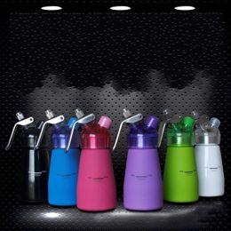 Wholesale Blue Desserts - Milk Whipper Foam Maker Multi Color 250ml Butter Cream Dispenser Cake Tool Pink Blue 63sj Z R