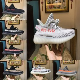 Wholesale Factory Direct Fabric - 2018 Factory Direct Sale Kanye West Boost 350 V2 Beluga SPLY-350 Orange Stripes Zebra semi Frozen Yellow Men Women Running Shoes Boost 350