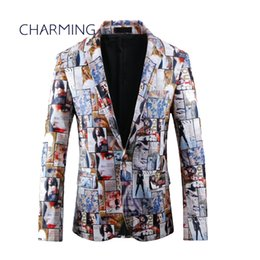 Wholesale Two Button Leather Jacket - Mens tailored jackets Stylish mens suits Casual suits for men Leather material fashion magazine printing Modern suits for men