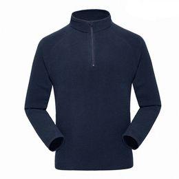 Wholesale Black Turtleneck Jacket - Men's Windbreaker 1 4 Zip Fleece Pullover Snap Polar Fleeced Pullovers Mountaineering Outerwear Jackets Sweater