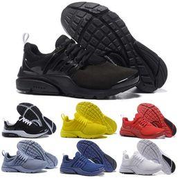 the latest cf8b2 f45ec nike air presto Chaussures de course en gros Presto Hommes Femmes Triple  noir blanc Ultra Respirez Jaune Rouge Bleu BR QS Jogging Baskets Athlétique  ...
