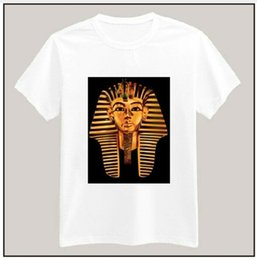Wholesale egyptian top - Egyptian Pharaoh Print Tshirt For Men Women Cotton Casual Shirt White Top Tees Big Size S-XXXL Drop Ship TZ155-94