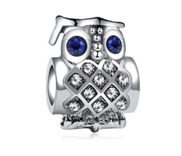 db9c89a90 Fits Pandora Bracelets 30pcs Owl Doctor Crystal Heart Charm Bead Loose Beads  For Wholesale Diy European Sterling Necklace Jewelry Women