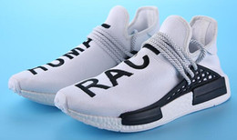"""Wholesale Family Specials - 03 Pharrell """"Friends and Family"""" NMD HUMAN RACE,Hu nmds Williams Runner Shoes Being Special Burgundy Maroon Yellow Black Red Green 36-45"""