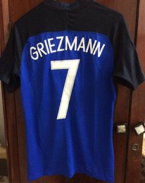 Wholesale Game Worn Jersey - 2016 Final Game Match Worn Giroud Pogba Payet Griezmann with Final Match Details Soccer Jersey Customize Any Name Number