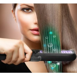 Wholesale Best Hair Iron Straightener - Professional Hair Straightener and Straightening Brush Iron Steam Hair Flat Heat Straightening Ceramic Iron Best Result with PTC Faster Heat