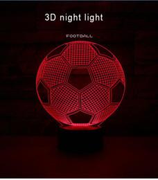 Canada 2018 Football 3D Light Coloré Télécommande Night Light Gift Table Corridor, Loisirs, Hall de l'hôtel, Couloir, Salle de montre, Article de ménage Offre