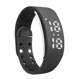 Wholesale Thermometer Bracelet - W2 Smart Watch Bracelet Smartband Mate Pedometer Sleep Monitor Thermometer Track Calories Burned Flex Fitness Pulsera Band T10