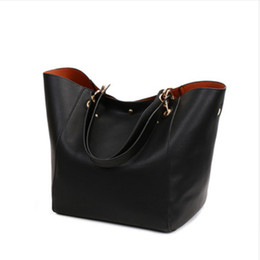 Wholesale design ladies bag totes handbag - Women Genuine Leather Handbag Big Hobos Tote Bag Luxury Ladies Design Shoulder Bag Real Leather Handbags Womens Purse big