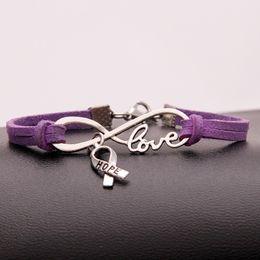 12 Constellation Infinity Love Aries Heart Pink Black Layered Bracelet Promotion Drop Shipping Wholesale Bracelets & Bangles Charm Bracelets