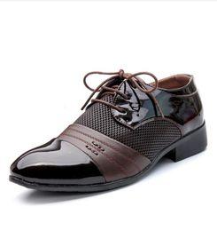 Argentina Oficina de negocios para hombre zapatos de cuero genuino caballero de la marca de lujo fiesta de bodas negro marrón zapatos grandes zapatos de vestir transpirables tamaño grande48 c4 cheap branded dress shoes Suministro