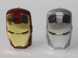 Wholesale post pen - epacket post LED iron man metal pen drive 64GB 128GB 256GB USB Flash Drive Memory Stick with OPP Packaging