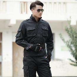 2019 combinaison de combat tactique Costume d'uniforme tactique Hommes Forces spéciales Militar Vêtements de combat Uniformes de sécurité Homme Vêtements de travail Veste + pantalon promotion combinaison de combat tactique