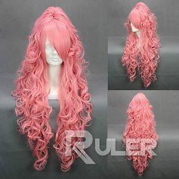 VOCALOI D-Megurine лука розовый Аниме косплей партии парик волос + 1Clip на хвост от