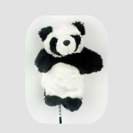 WOTUFLY China Panda Golf Fairway Woods Headcover # 3 # 5 Encantador Animal Dustproof Clubes de Golfe Madeiras Tampas de Cabeça de