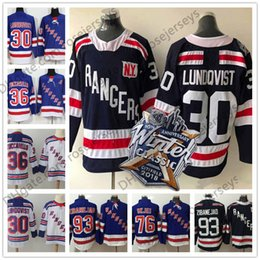 Wholesale Army Rangers - 2018 Winter Classic Navy Jersey #30 Lundqvist 36 Zuccarello 93 Zibanejad 76 Skjei Vesey Blue White New York Rangers Mens Womens Youth Kids