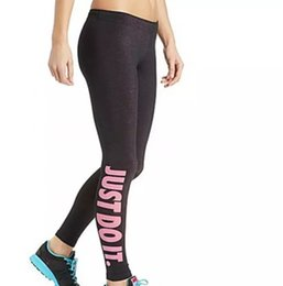 """Wholesale Slim Fit Trousers Wholesale - Women's Sexy Leggings """"Just Do It"""" Sport Girl Skinny Stretchy Pants Tight fitting Elastic Slim Fit Fitness Pencil Trousers"""