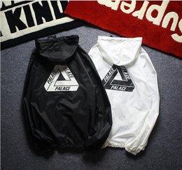 Wholesale Wind Windbreaker Jacket - New anorak sunscreen jacket windbreaker streetwear hip hop kanye west wind breaker jaqueta masculina brand black clothing