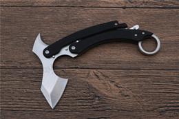 cuchillos al por mayor de chris reeve Rebajas OEM Sand Tiger Claw Karambit EDC acampar al aire libre autodefensa combate táctico regalo de Navidad cuchillos 1 unids freeshipping