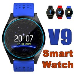 Wholesale Price Oxygen - V9 Bluetooth 3.0 smartwatches Sport Wearable SIM Compatible Intelligent Mobile Phone Watch For Android IOS Apple IPhone Reasonable Price