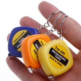 Herrscher Tragbare Mini Einziehbare Maßband Lineal Ziehen Lineal 1 Mt Keychain Versenkbare Herrscher Herz-förmigen Maßband