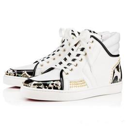 Wholesale Designer Bas - [Boîte D'origine] Hommes Chaussures Sneaker De Luxe Rouge Bas Sneaker Top Designer Sport Dude Faible Plat En Cuir Véritable Free Shipping